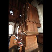 Bergen, Johanneskirke, Orgel seitlich