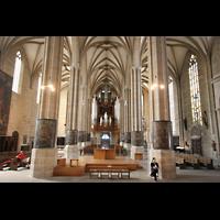 Erfurt, Dom St. Marien, Blick vom Chor zur Orgel