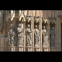 Erfurt, Dom St. Marien, Die fünf glücklichen Jungfrauen am Hauptportal