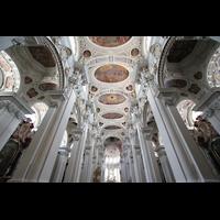 Passau, Dom St. Stephan, Deckengewölbe und Chorraum