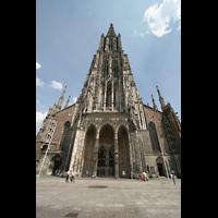 Ulm, Münster (Hauptorgel), Fassade mit Turm