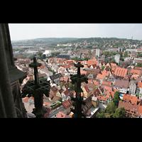 Ulm, Münster (Hauptorgel), Aussicht vom Turm