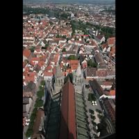 Ulm, Münster (Hauptorgel), Münster und Innenstadt von oben