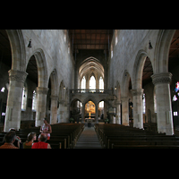 Esslingen, Stadtkirche St. Dionys, Innenraum / Hauptschiff in Richtung Chor