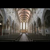Esslingen, Münster St. Paul, Innenraum / Hauptschiff in Richtung Chor
