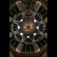 Aachen, Dom St. Marien (Hauptorgelanlage), Kuppel des Oktogons und Barbarossaleuchter