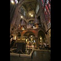 Aachen, Dom St. Marien (Hauptorgelanlage), Hochmünsterorgel und Karlsschrein