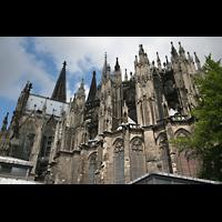 Köln, Dom St.Peter und Maria (Truhenorgel), Chor von außen