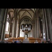 Minden, Dom St. Peter und Gorgonius (Hauptorgel), Innenraum / Hauptschiff in Richtung Orgel