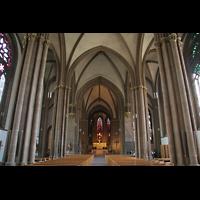 Minden, Dom St. Peter und Gorgonius (Hauptorgel), Innenraum / Hauptschiff in Richtung Chor