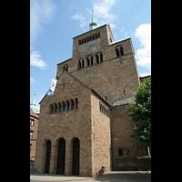 Minden, Dom St. Peter und Gorgonius (Hauptorgel), Eingangshalle und Fassade