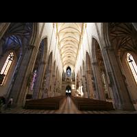 Ulm, Münster (Hauptorgel), Blick aus dem Chor zur Hauptorgel