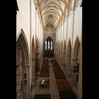 Ulm, Münster (Hauptorgel), Blick von der Orgelempore ins Münster