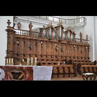 Weingarten, Basilika St. Martin - Große Orgel, Chororgel und Chorgestühl
