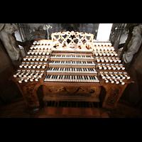 Weingarten, Basilika St. Martin - Große Orgel, Spieltisch