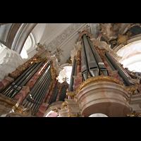 Weingarten, Basilika St. Martin - Große Orgel, Pedaltürme