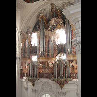 Weingarten, Basilika St. Martin - Große Orgel, Orgel von der Seitenempore aus