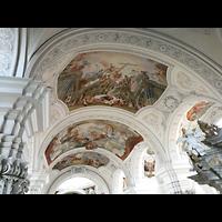 Weingarten, Basilika St. Martin - Große Orgel, Gewölbemalerei