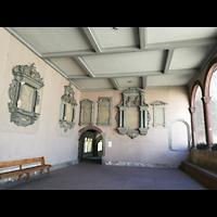 Schaffhausen, Münster (ehem. Kloster zu Allerheiligen), Gedenktafeln im Kreuzgang