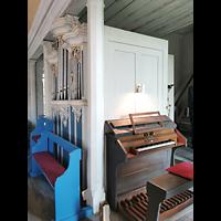 Mühlenbecker Land - Schönfließ, Ev. Kirche, Orgel mit Spieltisch