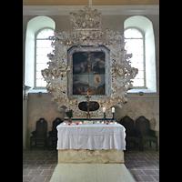 Mühlenbecker Land - Schönfließ, Ev. Kirche, Barocker Altar, ca. 1706