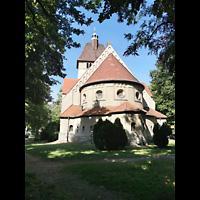 Berlin (Reinickendorf), Dorfkirche Alt Tegel (ev.) - Positiv, Außenansicht, Chorseite
