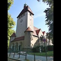 Berlin (Reinickendorf), Dorfkirche Alt Tegel (ev.) - Positiv, Außenansicht mit Turm
