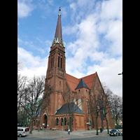 Berlin (Tiergarten), Heilandskirche, Seitliche Außenansicht von Südwesten
