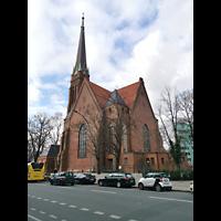 Berlin (Tiergarten), Heilandskirche, Seitliche Außenansicht von Südosten
