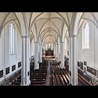 Berlin (Mitte), St. Marienkirche, Blick von der Orgelempore in die Kirche