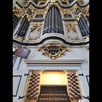 Berlin (Mitte), St. Marienkirche, Spieltisch mit Orgel