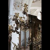 Ottobeuren, Abtei - Basilika (Heilig-Geist-Orgel), Rückpositiv der Dreifaltigkeitsorgel