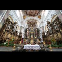 Ottobeuren, Abtei - Basilika (Heilig-Geist-Orgel), Orgeln von Riepp im Chorraum