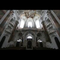 Ottobeuren, Abtei - Basilika (Heilig-Geist-Orgel), Empore mit Marienorgel