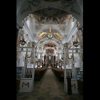 Ottobeuren, Abtei - Basilika (Heilig-Geist-Orgel), Eingangshalle mit Gitter
