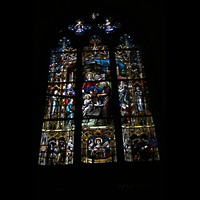 Konstanz, Münster unserer lieben Frau, Fenster mit bunter Glasmalerei