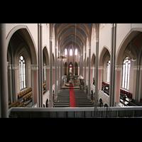 Wiesbaden, Marktkirche, Blick von der Orgelempore in die Kirche