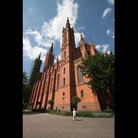 Wiesbaden, Marktkirche, Seitenansicht mit Chor
