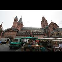 Mainz, Dom St. Martin und St. Stephan, Seitenansicht