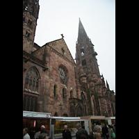 Freiburg, Münster unserer lieben Frau, Querhaus mit Turm