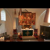 Berlin (Reinickendorf), Dorfkirche Alt Reinickendorf, Blick von der Orgelempore