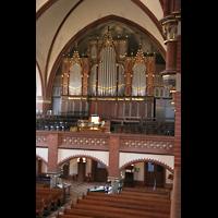 Berlin (Wilmersdorf), Auenkirche, Blick von der Seitenempore zur Orgel