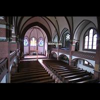 Berlin (Wilmersdorf), Auenkirche, Blick von der Orgelempore in die Kirche