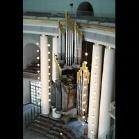 Berlin (Mitte), St. Hedwigs-Kathedrale, Orgel vom Kuppelrundgang aus