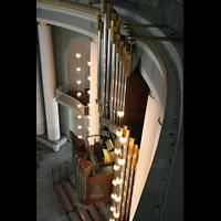 Berlin (Mitte), St. Hedwigs-Kathedrale, Orgel von oben