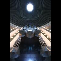Berlin (Mitte), St. Hedwigs-Kathedrale, Kein Raumschiff - sondern eine Orgel von unten mit Blick in die Kuppel