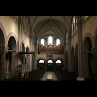 Berlin (Wedding), St. Joseph, Innenraum / Hauptschiff in Richtung Orgel