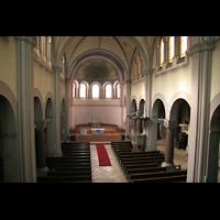 Berlin (Wedding), St. Joseph, Blick von der Orgelempore in den Innenraum