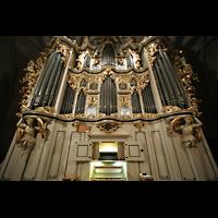 Berlin (Mitte), St. Marienkirche, Orgelprospekt beleuchtet
