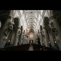 Brussel (Bruxelles - Brüssel), Kathedraal Sint Michiel en Sint Goedele (Hauptorgel), Innenraum / Hauptschiff in Richtung Chor